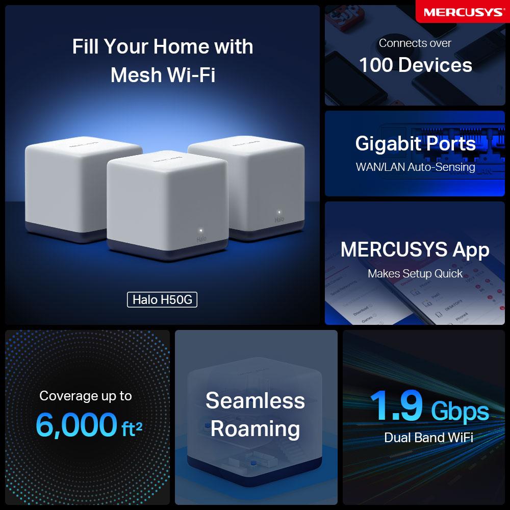 MERCUSYS Mesh WiFi, Halo H50G