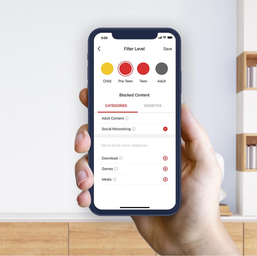 MERCUSYS Mesh WiFi, Easy App Control, Halo H50G